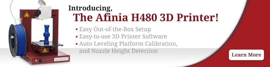 Afinia H480 3D Printer Banner
