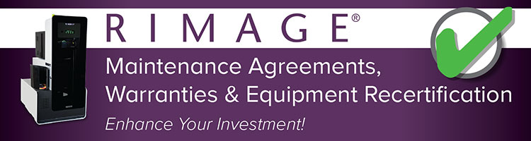 Rimage Maintenance Agreements, Warranties, and Equipment Recertification