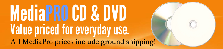 MediaPro Blank CDs and DVDs - Value Priced