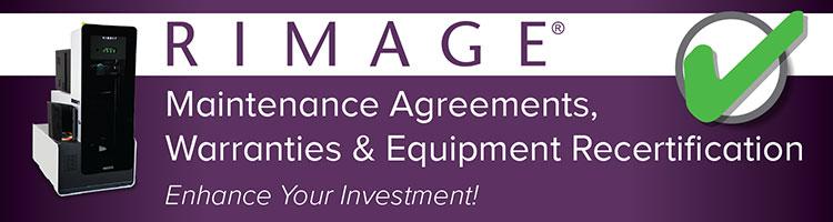 Rimage Maintenance Agreements, Warranties, and Equipment Recertification